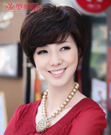 中年妇女短发烫发型_中年女人短发烫发 中年妇女微烫短发发型_发型师姐