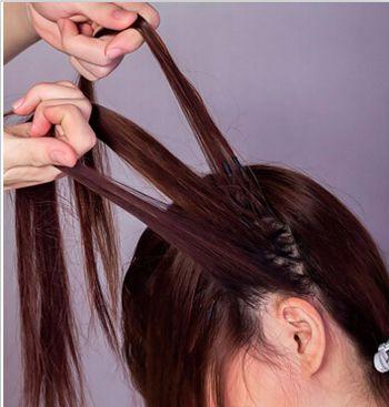唯美发型简单编法图解