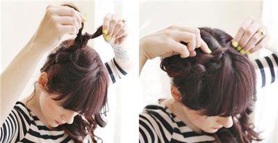 烫头发编两个辫子怎么编好看