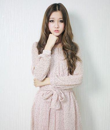 刘海自然中分发型 2015韩式中分刘海发型