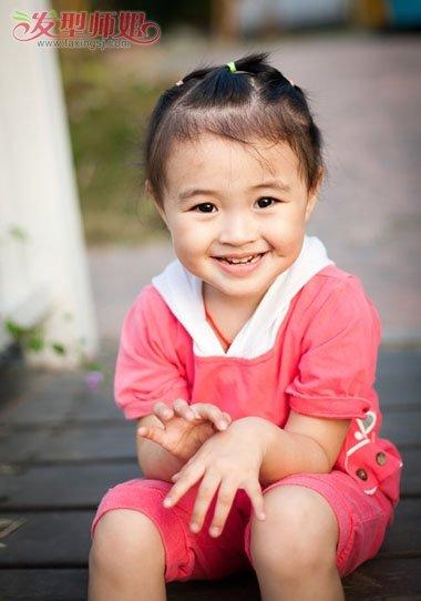 小孩短发盘发发型图片 幼儿短发如何盘起发型图片