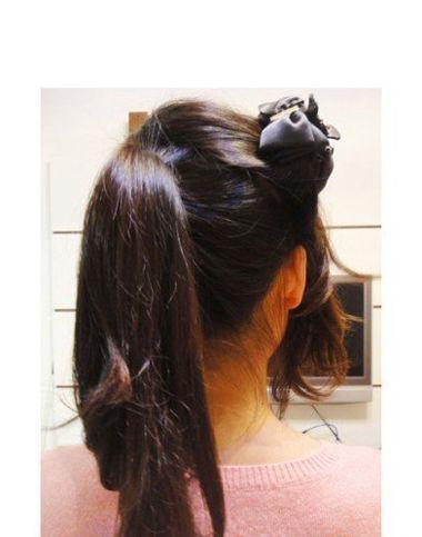 长发学生小学扎发型生中长发步骤扎法法学凤景发型西安市图片