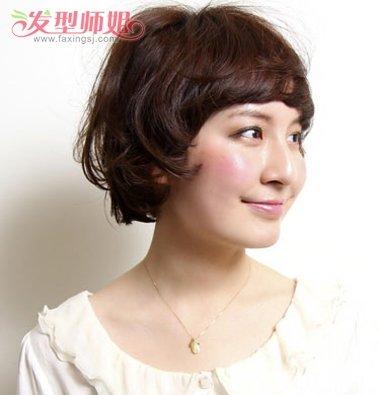 学生短发斜刘海凌乱梨花头发型-短发怎么弄梨花头 适合学生的短发梨