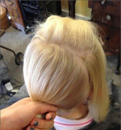 发型设计 儿童发型 >> 幼儿盘头发型步骤图片 小孩最新盘发发型图解图片