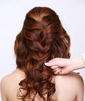 新娘盘发发型步骤 教新娘盘头发型图解图片