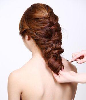 新娘盘发发型步骤 教新娘盘头发型图解(3)图片