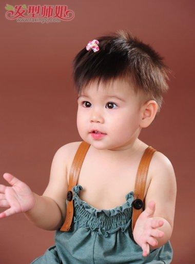 短发宝宝的 发型设计,扎辫子的设计从来都不在少数