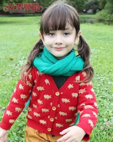 6岁女童发型扎法图 儿童的发型扎辫子图片
