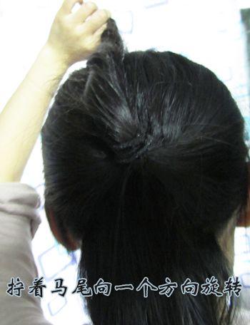 古代少女如何用发簪盘发