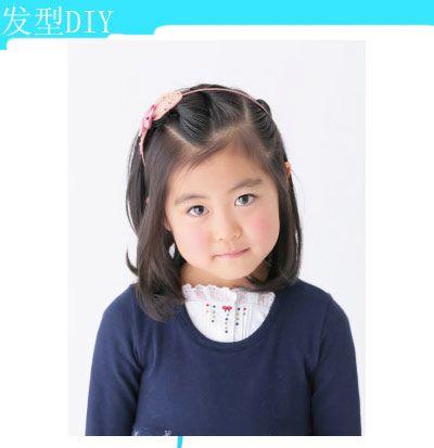 三岁小孩短发发型怎样扎 小孩短发发型绑扎方法(3)