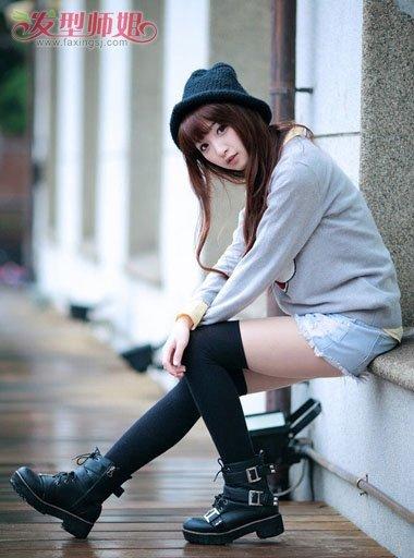 齐刘海韩国长发大卷发型图片 韩国女生大卷烫发 发型师姐图片