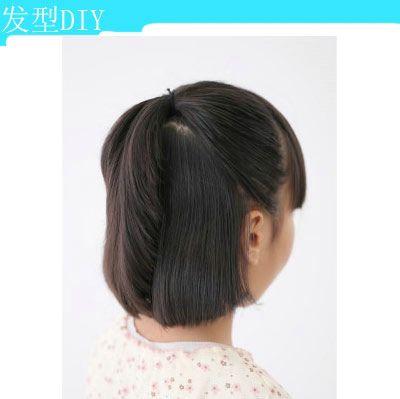 儿童短头发简单的发型扎法 小女童短发扎发发型图片