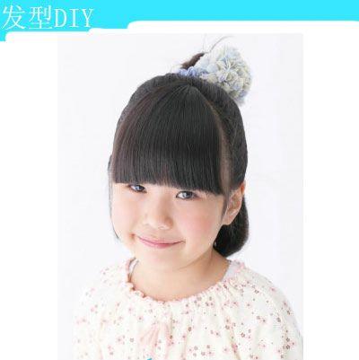 儿童短头发简单的发型扎法 小女童短发扎发发型(4)