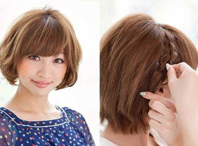 中学生短发发型扎法图解