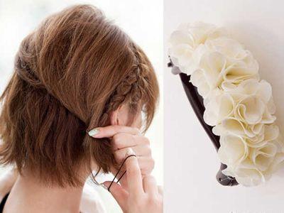 中学生短发发型扎法图解 学生短发简单发型扎法步骤图片