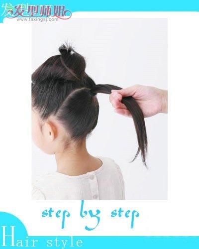 小孩子的发型怎么扎步骤 小孩漂亮发型扎法(3)