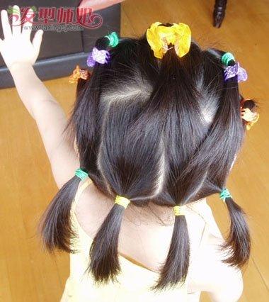 儿童公主头发型步骤