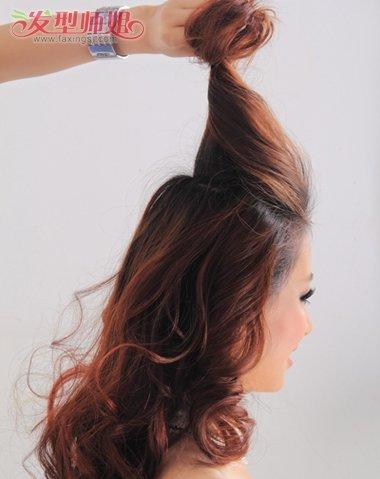 婚礼新娘盘头发型图片