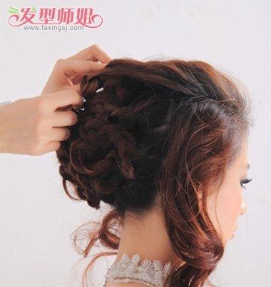 婚礼新娘盘头发型图片 盘发新娘发型图片教程(7)图片