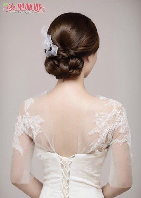 新娘盘头发的方法学习(2)