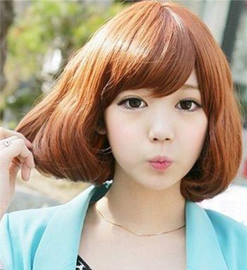 少女哪种类型的烫发好看 短发烫发适合发量少的发型图片(3)