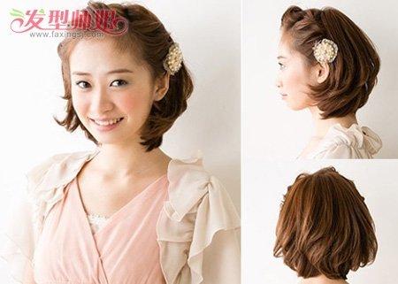 编发中,这款新娘头发造型很契合新娘子风格~