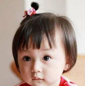 妈妈扎发达人小宝贝发型 1岁宝宝短发扎发发型