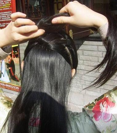 如何盘中国古典发型 古代女生盘发发型图解(3)