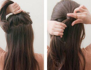 韩式简单盘发发型扎法图片