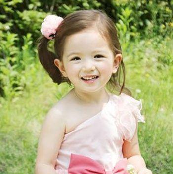 3岁宝宝短头发扎辫子发型图片