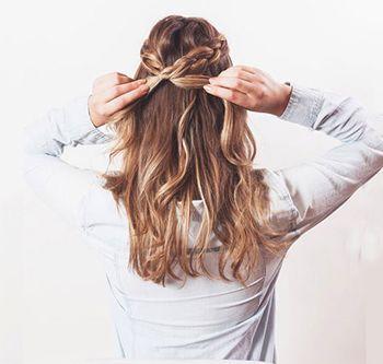 长直发扎辫子发型 长头发编辫子发型扎法图解(4)