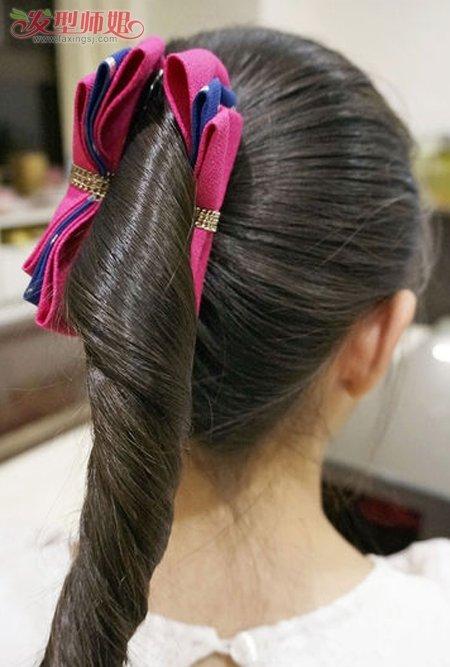 儿童小女孩长发怎么盘好看 小女孩长发盘头图片(2)