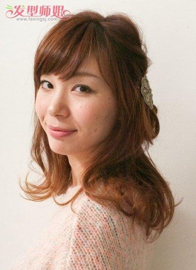 女生有刘海扎发发型步骤