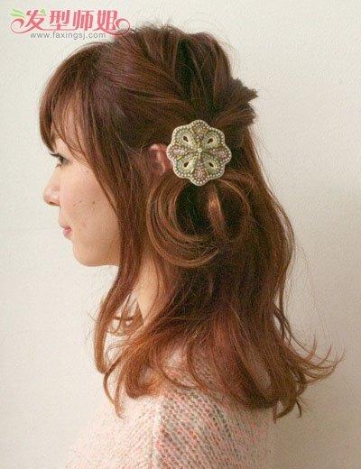 女生有刘海扎发发型步骤 最新发型扎法教学(9)