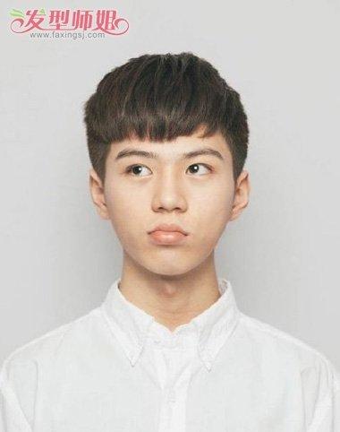 男生发型 男生短发 >> 男生学生刘海发型图片 初中生刘海发型图片  梳
