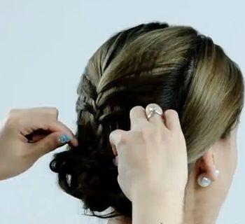 中年妇女长发盘发示范 中年女性盘发发型图片(6)图片