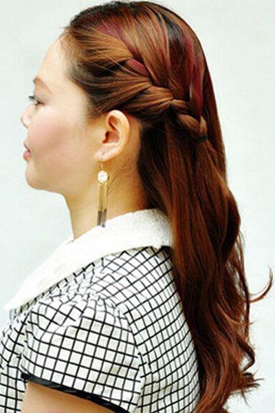 中年妇女日常发型盘发教程 中年妇女发型盘发教程diy图片