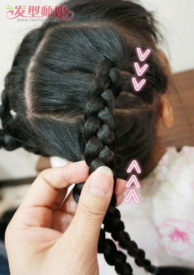 小女孩长头发怎样编辫子 小女孩漂亮头发编法(2)_发型图片