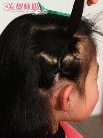 三岁小孩子扎头发发型 漂亮小孩发型简单扎法步骤(3)