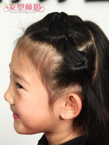 三岁小孩子扎头发发型 漂亮小孩发型简单扎法步骤(9)图片