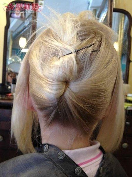 儿童盘发发型扎法 儿童盘头发步骤(2)图片