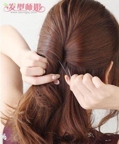 35歲女人扎頭發與劉海教程 直劉海的簡單發型扎法(5)圖片