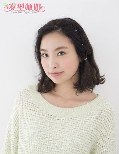 短发,也能扎出曲折有型的精彩模样,怎么梳女生无 刘海发型,俏皮 学生图片