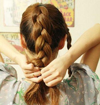 学生怎样盘头发简单好看