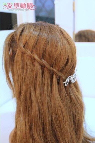头发太长如何快速编出好看的发型 编辫子的简易发型