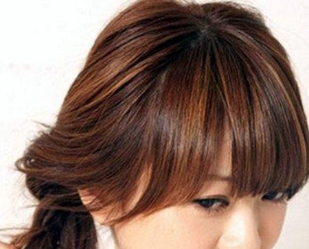 古典发型怎么编 齐头帘编发发型扎法(2)图片