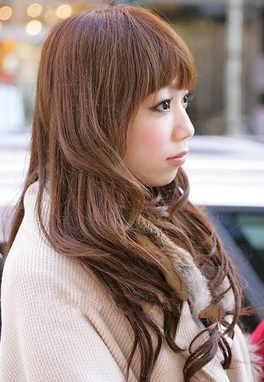 长头发烫卷发型图片 烫刘海发型图片图片