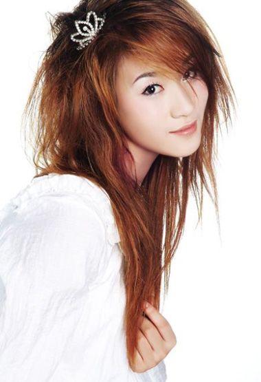 长头发烫卷发型图片 烫刘海发型图片(3)