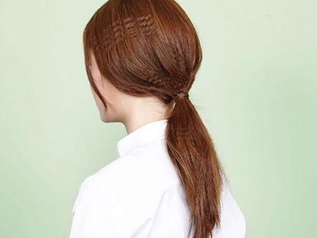 女生锡纸烫发怎么扎 女生锡纸烫简单的扎发图片