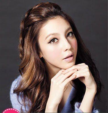 女生长发自编发型 复古韩式编发发型图片 4 发型师姐